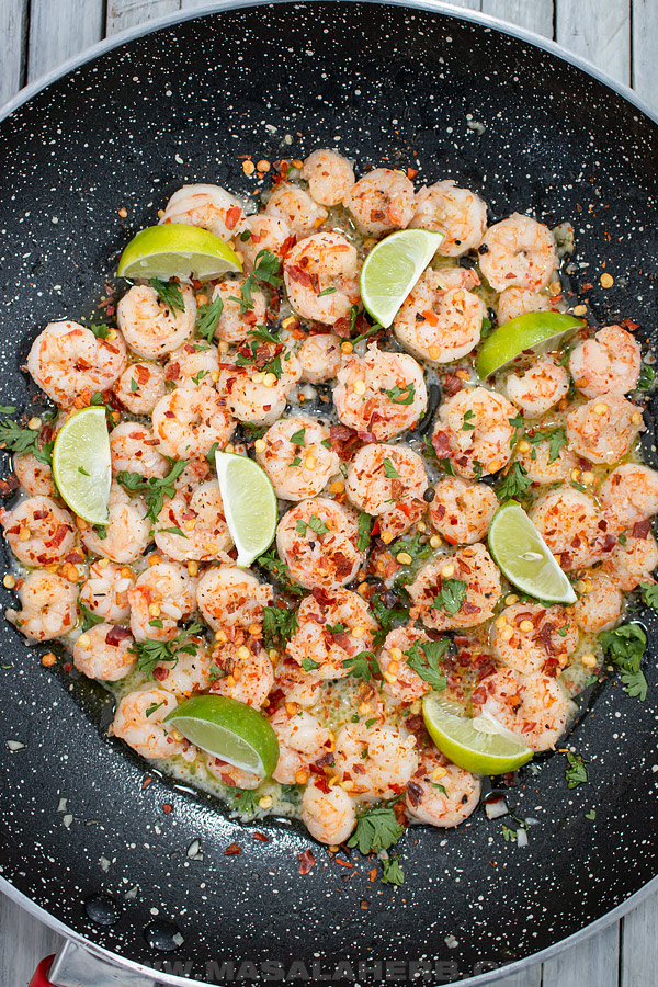 lime flavored shrimp with spices