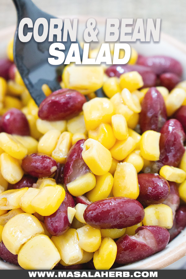 5 mins Corn and Bean Salad picture cover