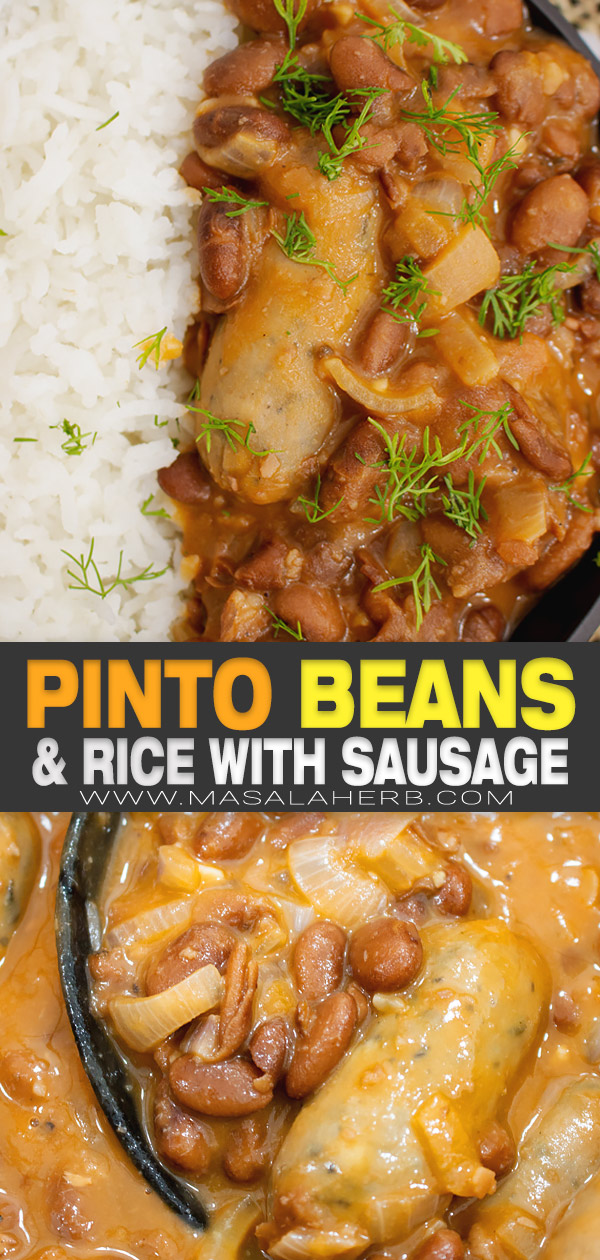 Canned Pinto Beans and Rice with Sausage pin