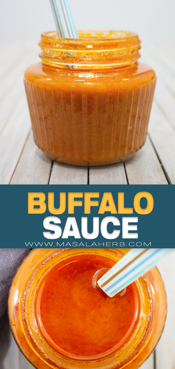Zesty Buffalo Sauce Recipe pin image