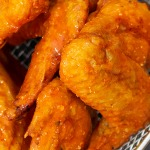 close up Oven Baked Buffalo Chicken Wings