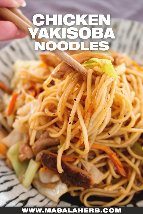 Chicken Yakisoba Noodles recipe image