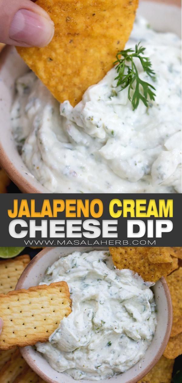 5 min Jalapeno Cream Cheese Dip pin