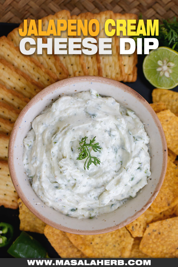 jalapeno cream cheese dip served up at a party