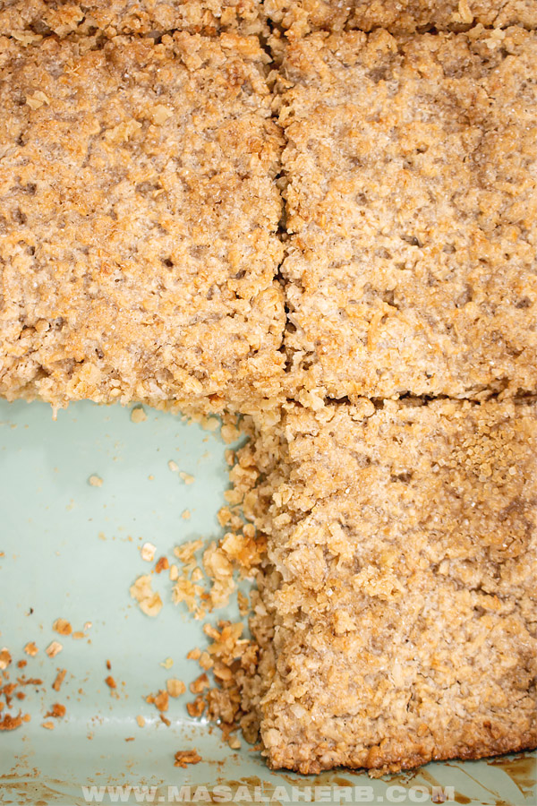 square cut baked oatmeal
