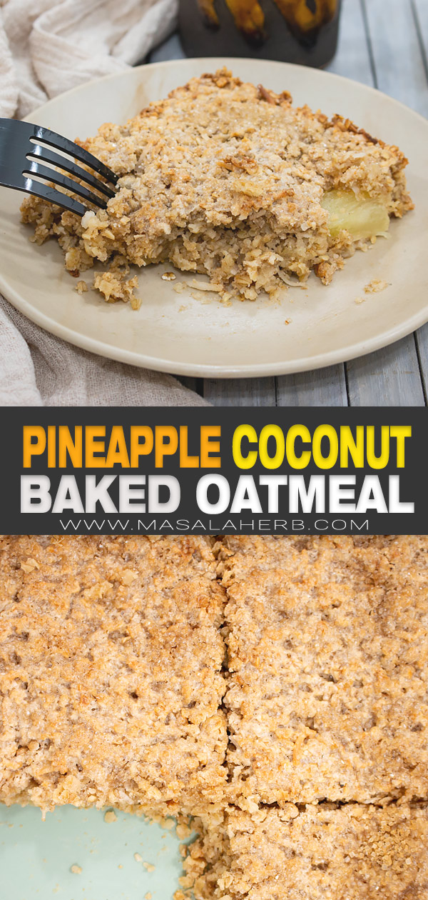 pineapple baked oatmeal