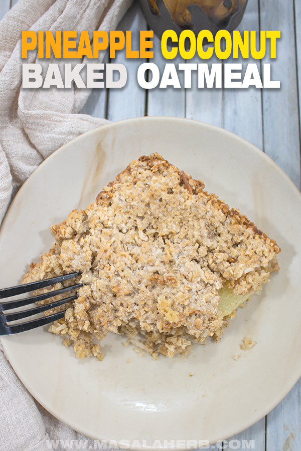 oatmeal baked and served up as squares