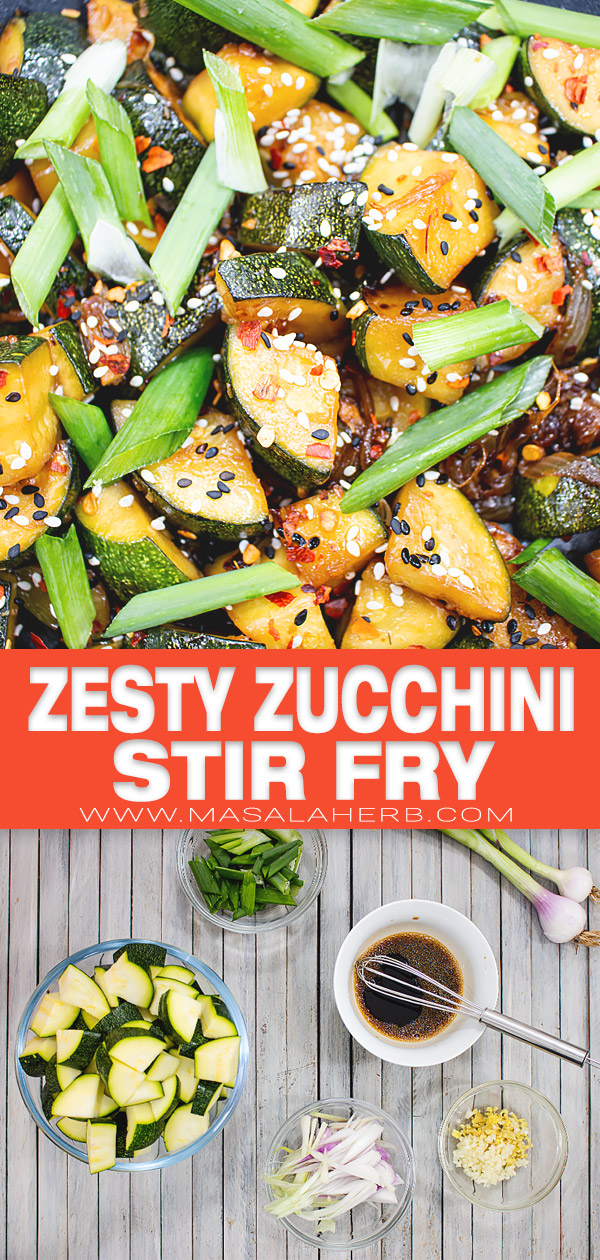 Zesty Zucchini Stir Fry Recipe pin picture