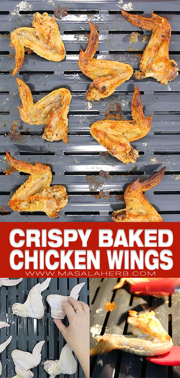 Extra Crispy Baked Chicken Wings Recipe pin image