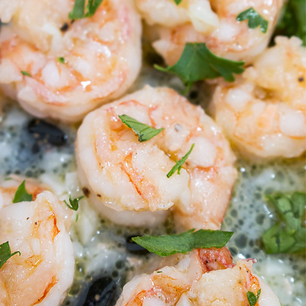 small shrimp with garlic and butter