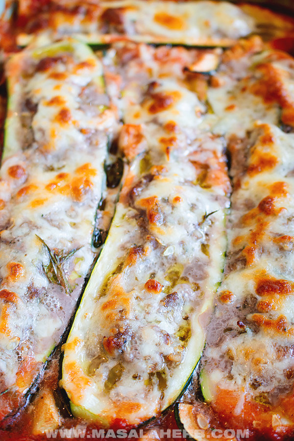 stuffed zucchini with ground beef