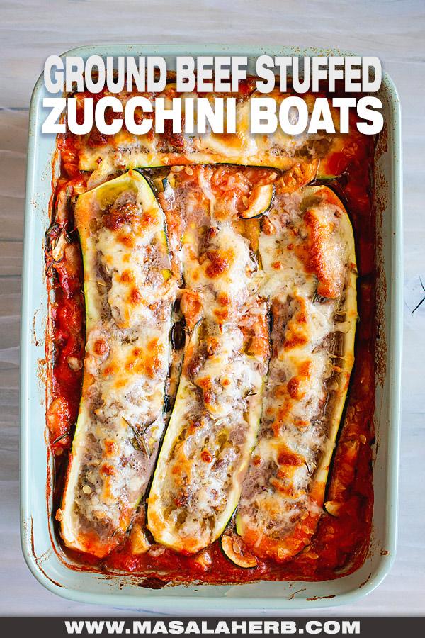 Ground Beef Stuffed Zucchini Boats Recipe cover image