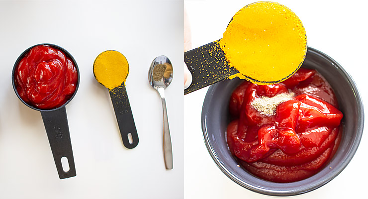 add curry powder to ketchup