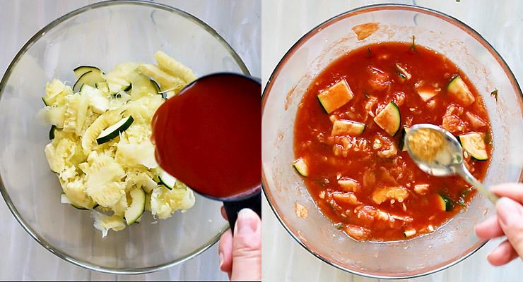 prepare tomato sauce