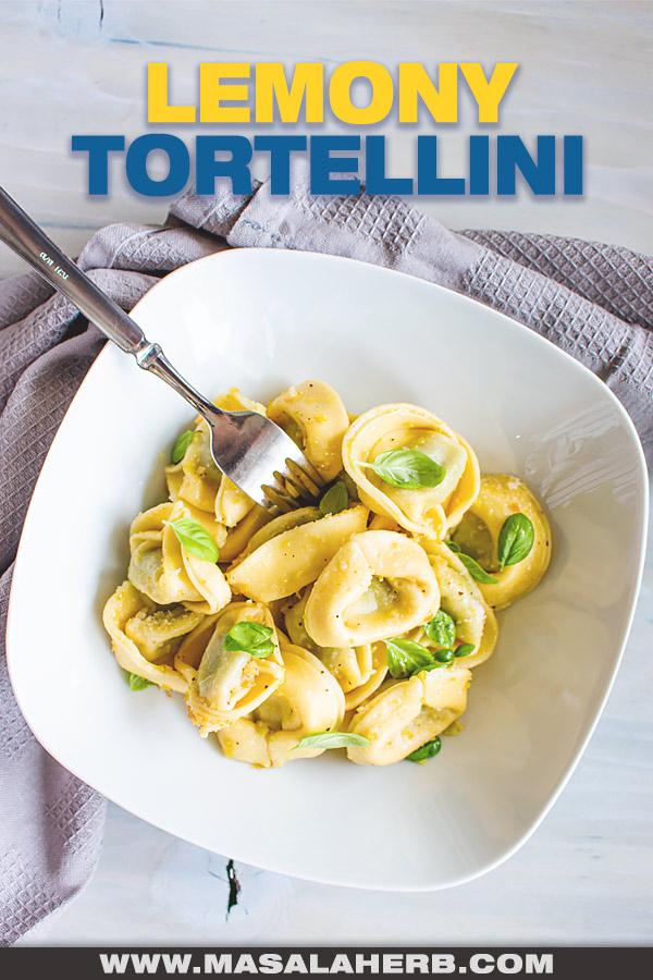 Lemony Olive Oil Tortellini Recipe image