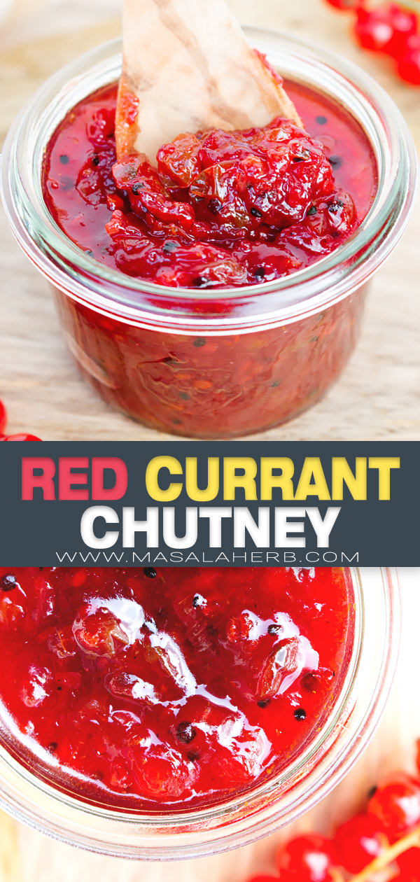 Red Currant Chutney pin image