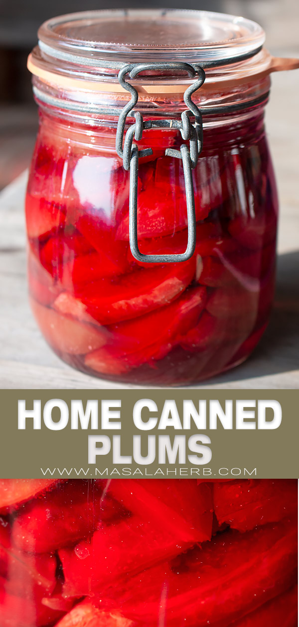 Home Canned Plums pin image