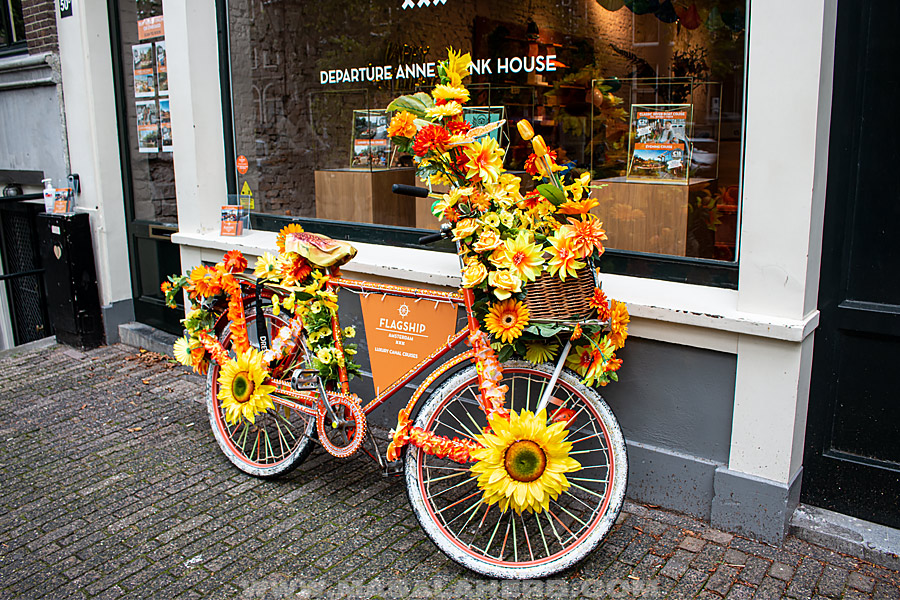 cycles and flowers in Amstersam