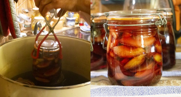 take out jars and keep to cool on a cloth