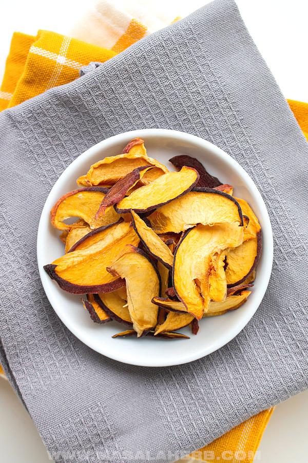 healthy peach chips