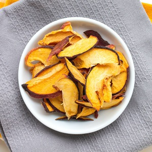 Dehydrated Peach in a plate