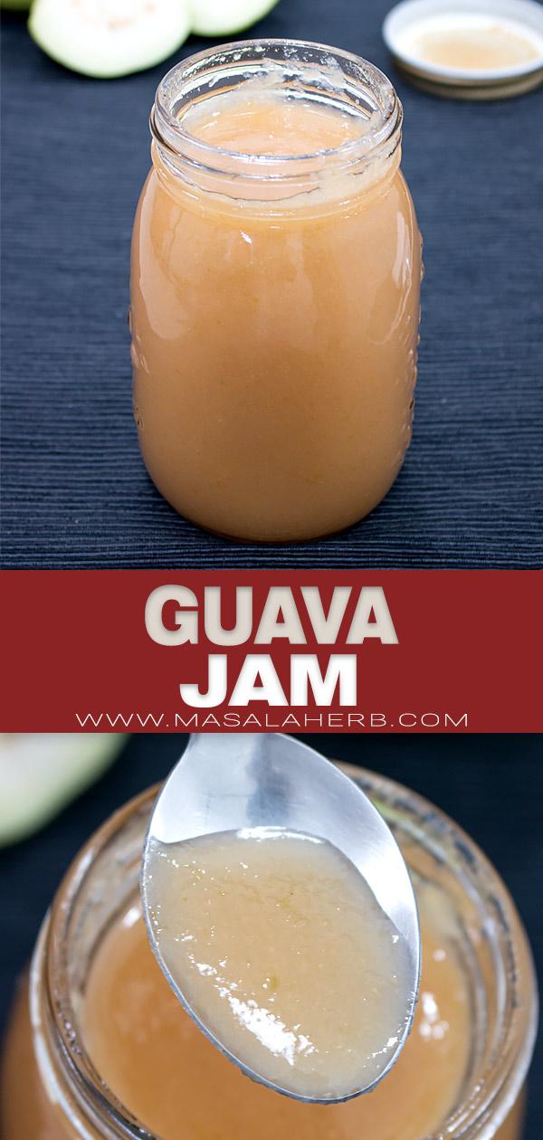 Guava Jam Recipe pin image