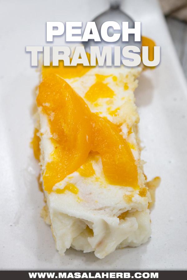 Peach Tiramisu Recipe cover picture