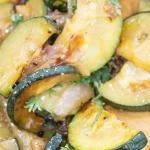 Garlic Onion Sauteed Zucchini close up