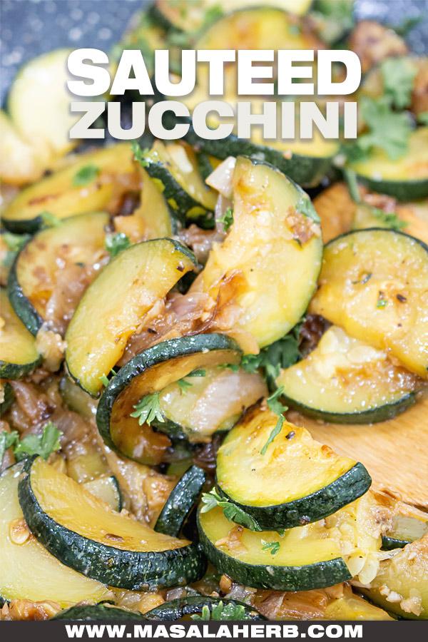 Garlic Onion Sauteed Zucchini Recipe cover picture