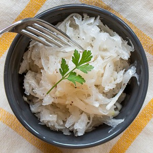turnip salad homemade in a bowl