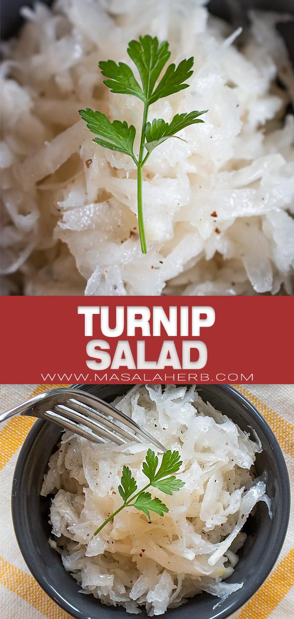 Simple Turnip Salad pin image