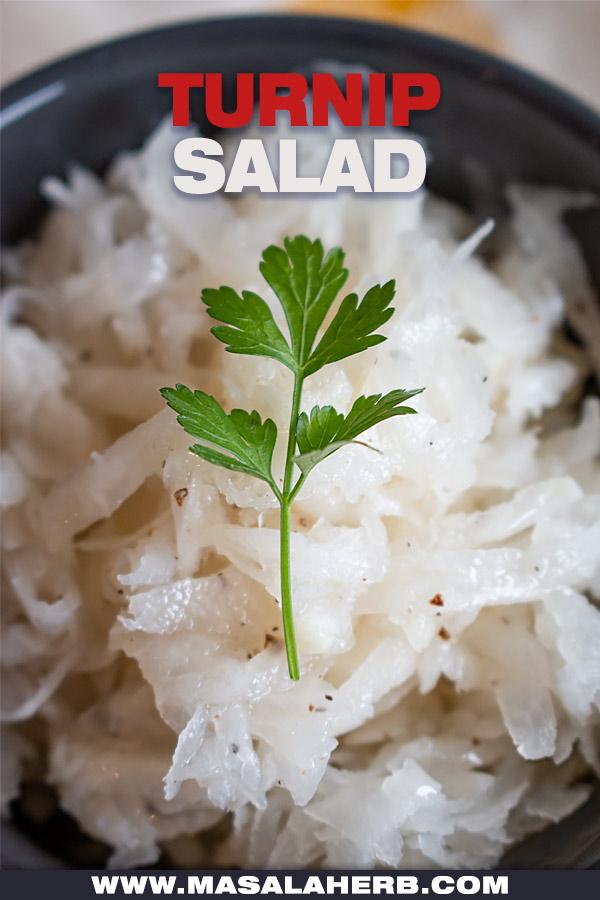 Simple Turnip Salad Recipe cover picture