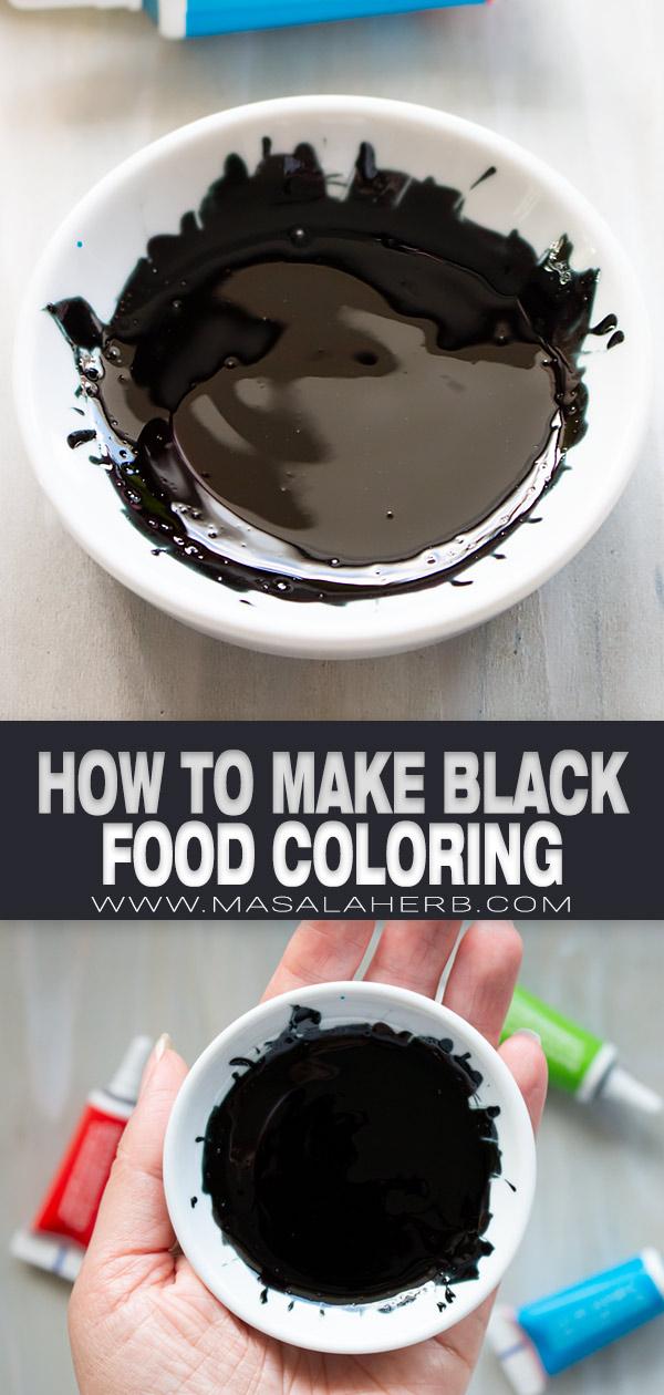 How to make Black Food Coloring pin image