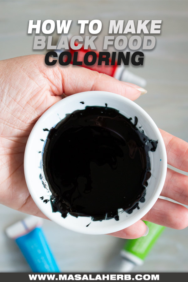 How to make Black Food Coloring cover picture