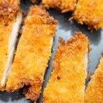 katsu chicken cut into strips