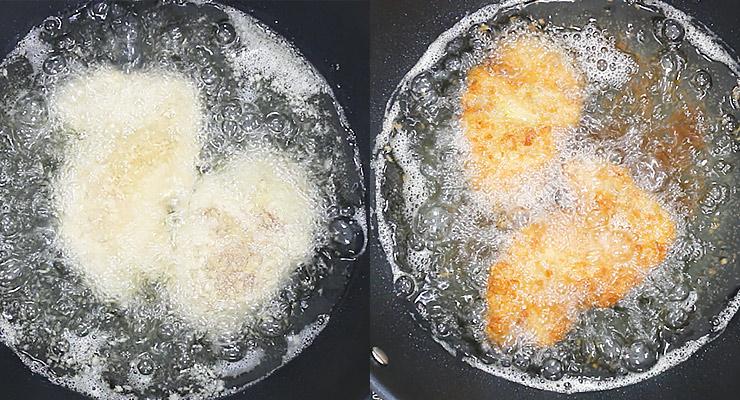 deep fry chicken golden