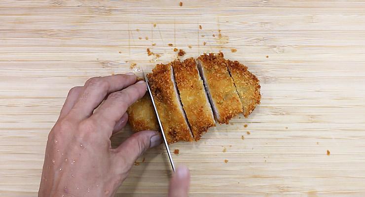 cut chicken into strips