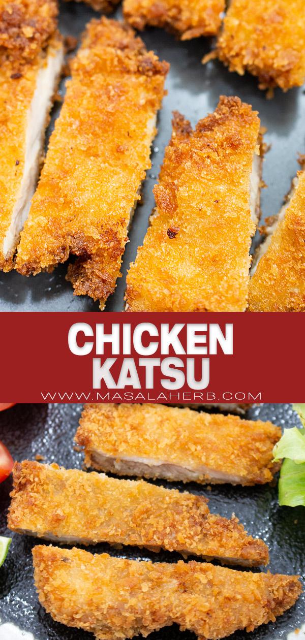 Chicken Katsu Recipe pin image