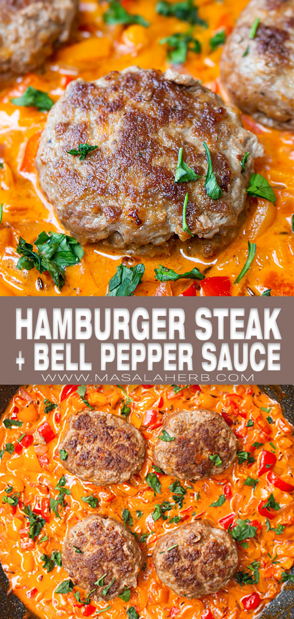 Skillet Hamburger Steak with Bell Pepper Sauce cover picture