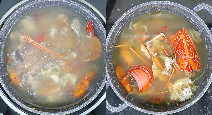 simmer lobster shells