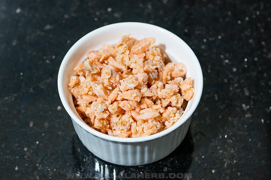 homemade salmon furikake