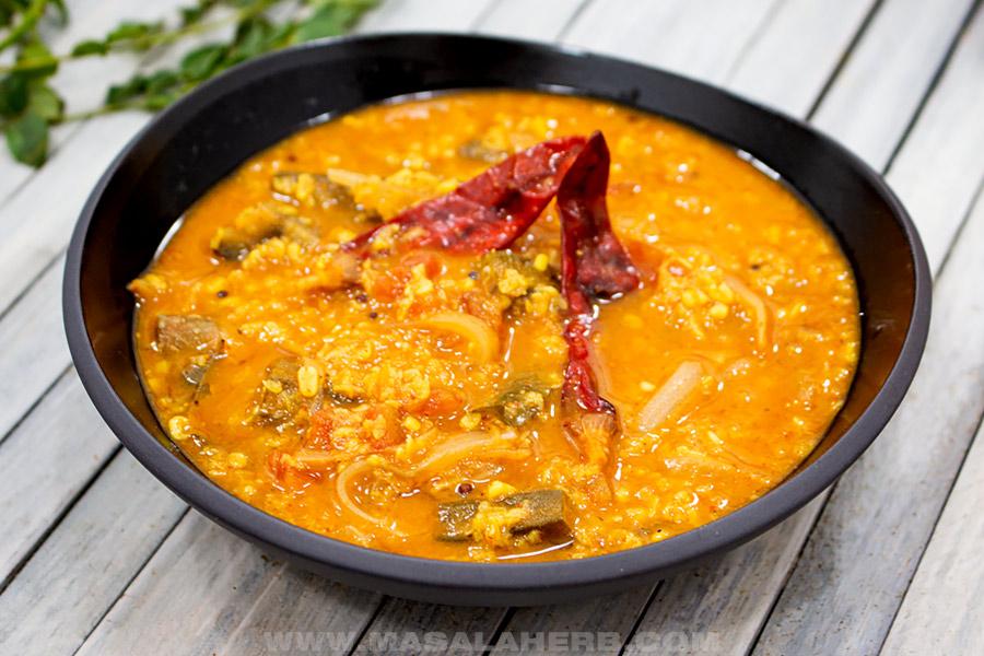 bowl with sambar curry