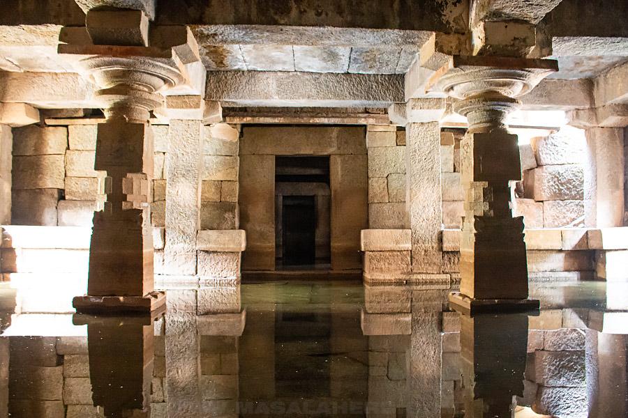 under water temple hampi