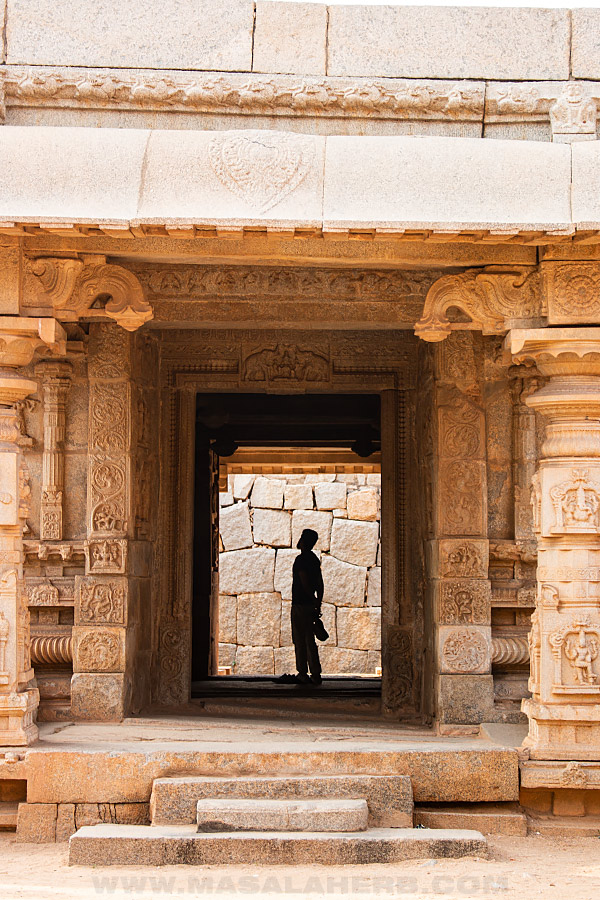 visiting the temples of hampi
