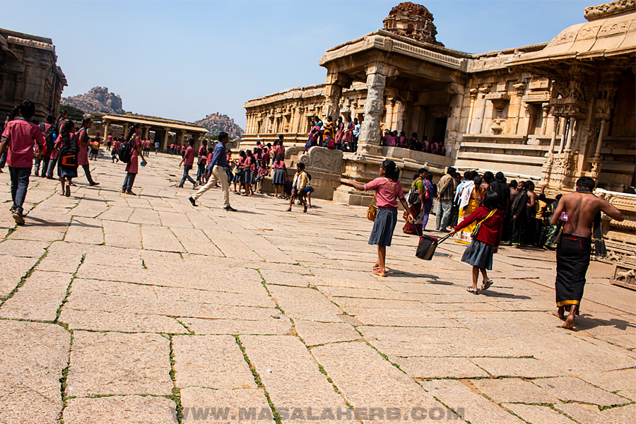 temple and school kids india