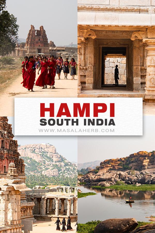 Hampi South India pin image