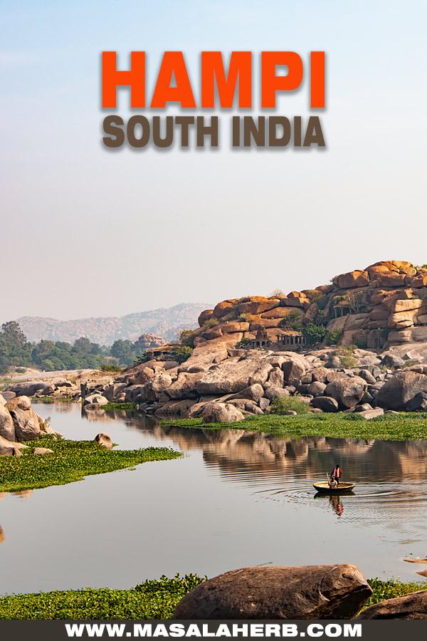 cover hampi river south India photograph