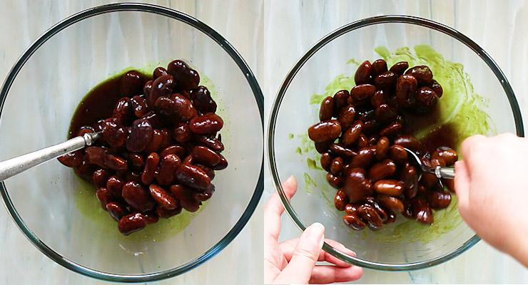 add scarlet runner beans to dressing
