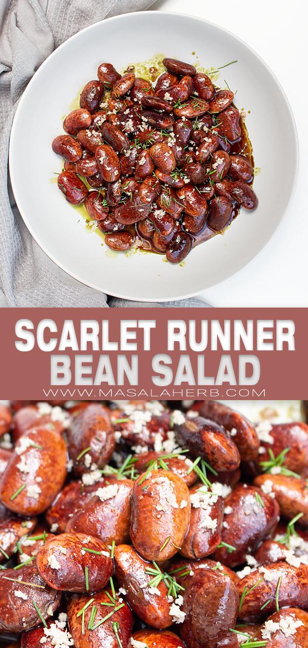 Scarlet Runner Bean Salad Recipe pin image